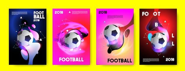 Football 2018 coupe du monde de football de fond. Vecteur Premium