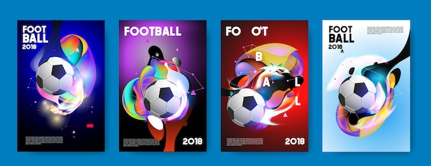 Football 2018 coupe du monde de football de fond. Vecteur Premium