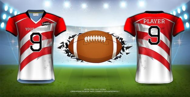 Football américain Vecteur Premium