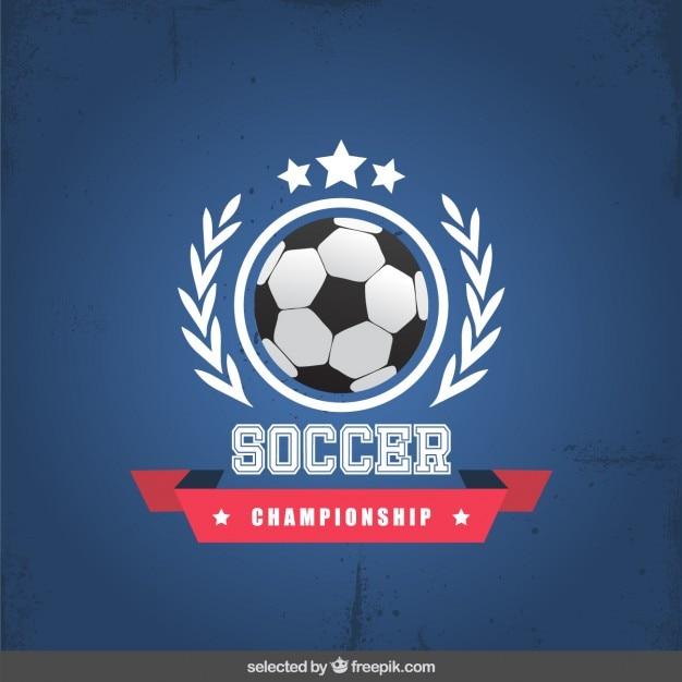 Football badge championnat Vecteur gratuit