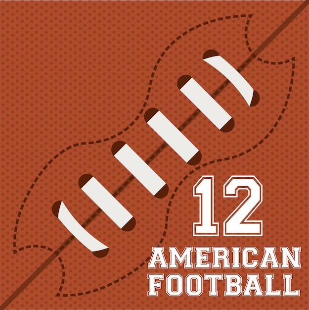 Football sur illustration orange Vecteur gratuit