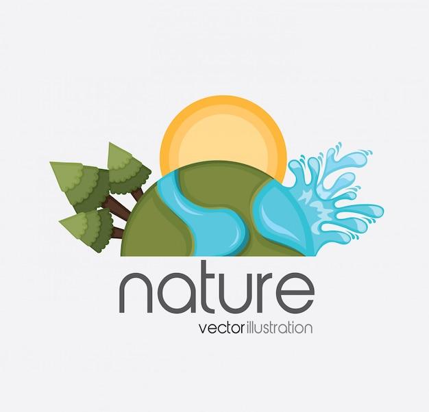 Forêt nature Vecteur gratuit
