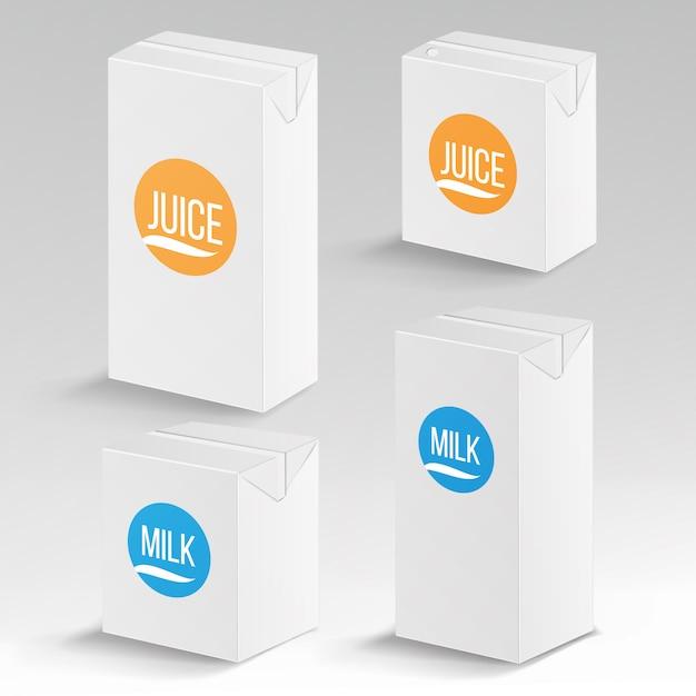 Forfait jus et lait Vecteur Premium