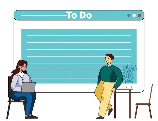 Formation à La Gestion Du Temps Avec Un Mentor Personnel Vecteur Premium