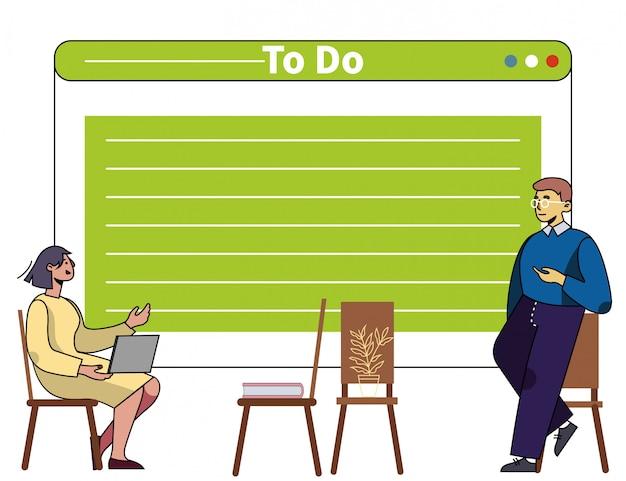 Formation En Gestion Du Temps Et En Organisation Des Affaires Vecteur Premium