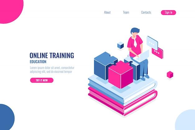 Formation en ligne, éducation Vecteur gratuit