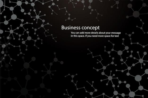 Formation scientifique, fond de molécule noire Vecteur Premium
