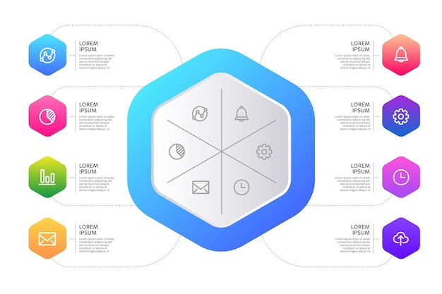 Forme Abstraite Dégradé Infographique Vecteur gratuit