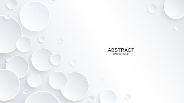 Forme de cercle abstrait dans le style de papier avec une ombre portée sur le fond Vecteur Premium