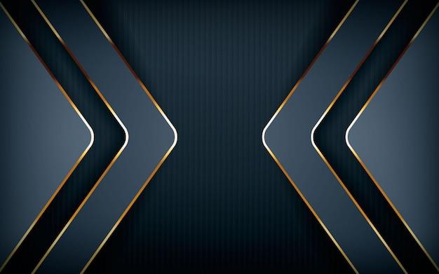 Forme de flèche moderne avec ligne dorée claire Vecteur Premium