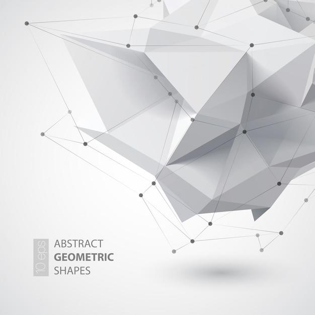 Forme De Géométrie Faible Polygone. Illustration Vecteur Premium