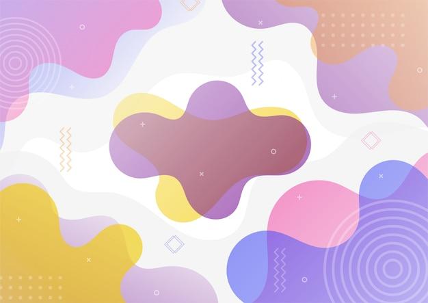 Forme Géométrique Abstraite Moderne Dégradé Coloré. Vecteur Premium
