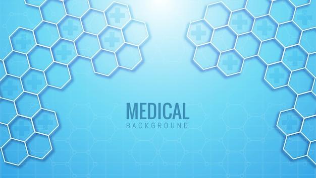 Forme Hexagonale Abstraite Médicale Et De Soins De Santé Vecteur gratuit