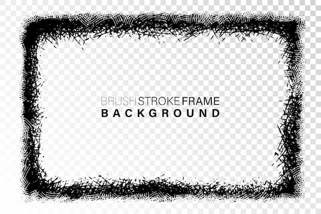 Forme rectangulaire de cadre grunge dessiné à la main Vecteur Premium