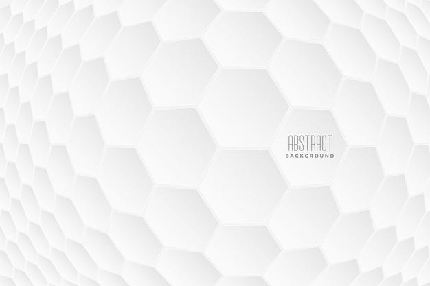 Formes 3d Abstraites Hexagonales Blanches Vecteur gratuit