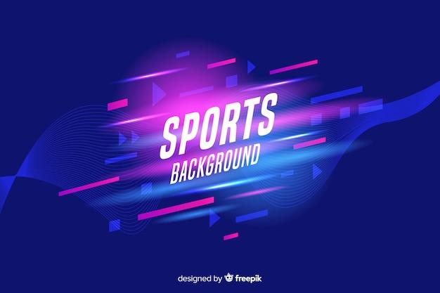 Formes abstraites sport fond Vecteur gratuit