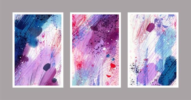 Formes Aquarelles Abstraites - Couvertures Vecteur gratuit