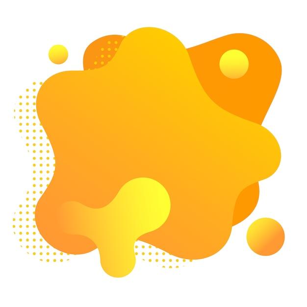 Formes fluides dégradés isolés sur blanc. taches orange colorées. Vecteur Premium