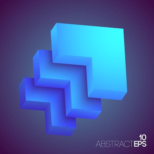 Formes Géométriques 3d Abstraites Vecteur gratuit