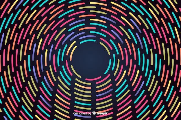 Formes géométriques néon rond Vecteur gratuit
