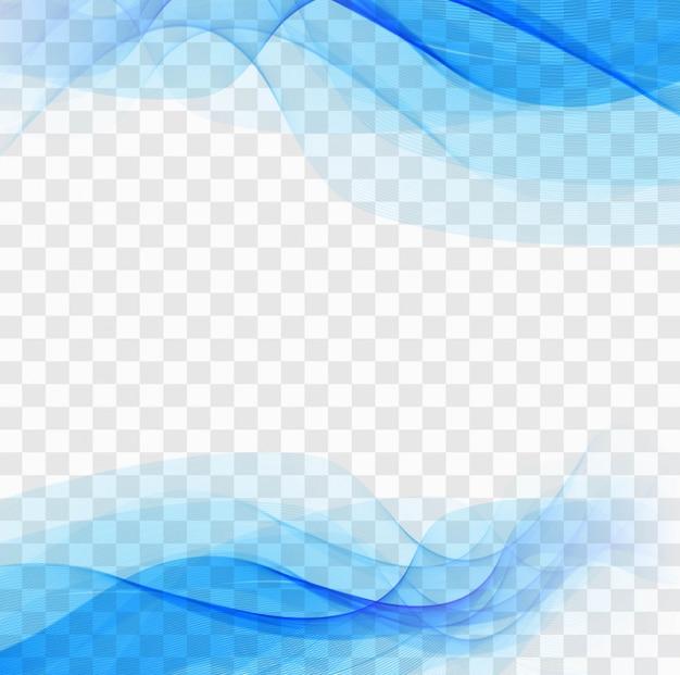 Formes ondulées bleues sur un fond transparent Vecteur gratuit