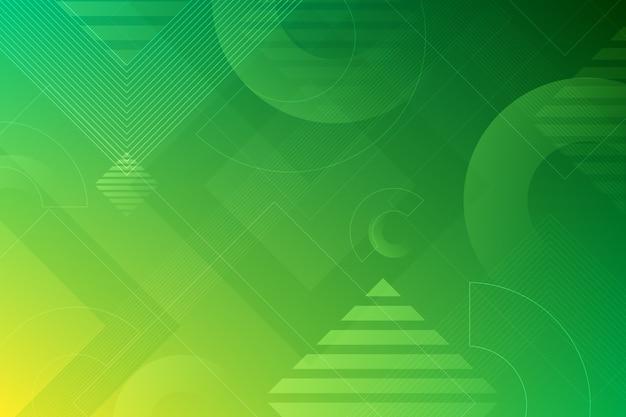 Formes vertes sur fond vert Vecteur gratuit