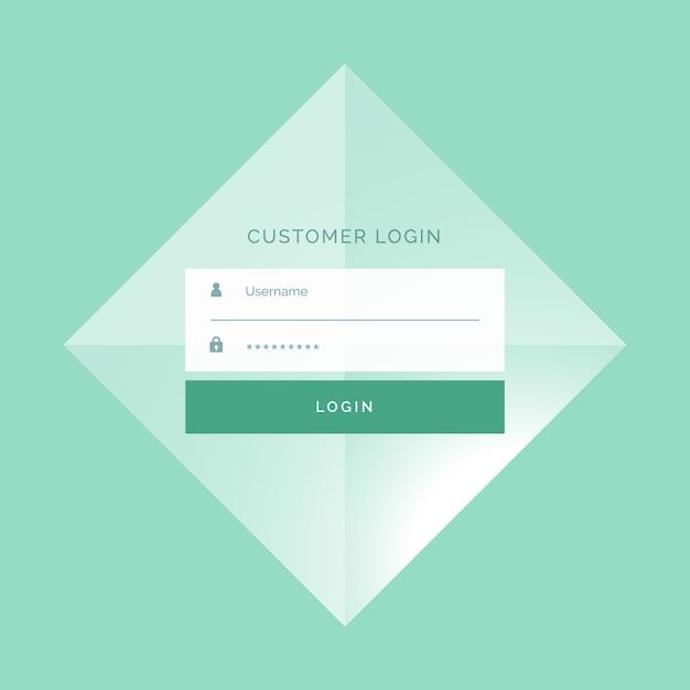 Formulaire de connexion impressionnant design background modèle Vecteur gratuit
