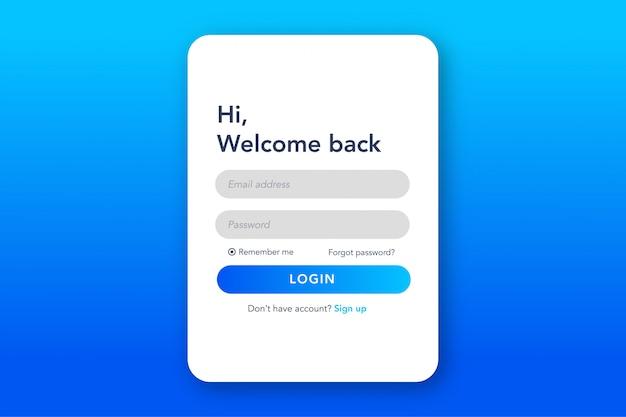 Formulaire De Connexion à La Page De Destination Vecteur Premium