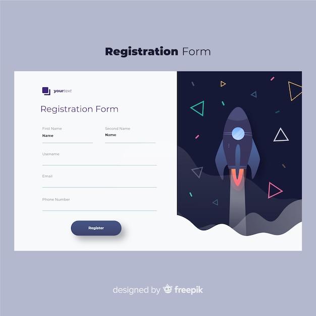 Formulaire d'inscription en ligne Vecteur gratuit