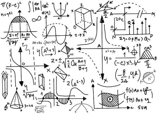 Formules physiques et phénomène Vecteur Premium
