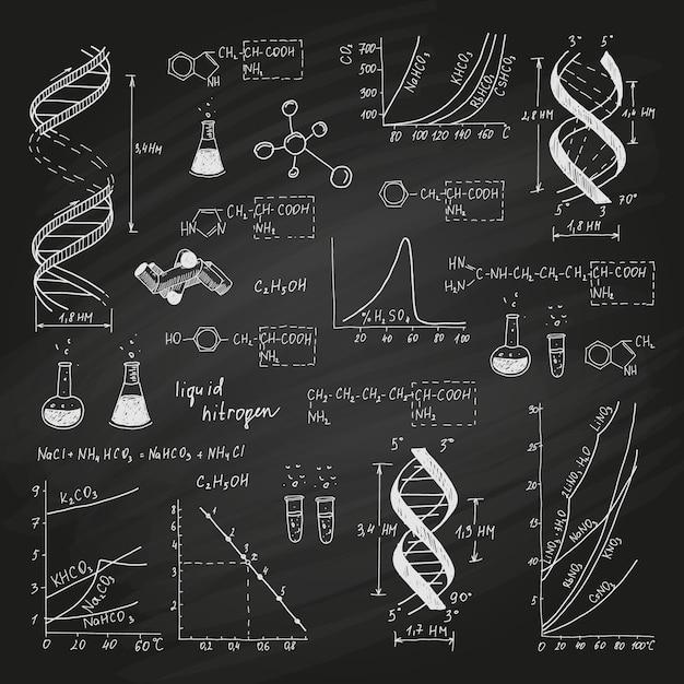 Formules Scientifiques Sur Tableau Noir Vecteur gratuit