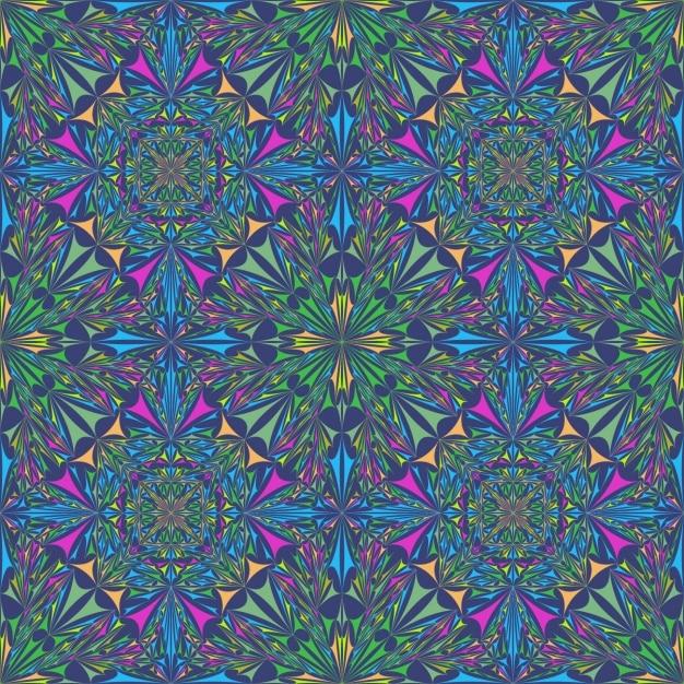 Fractal design fond coloré Vecteur gratuit