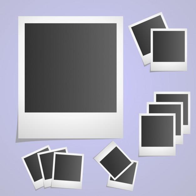 Frame collection polaroid photo Vecteur gratuit