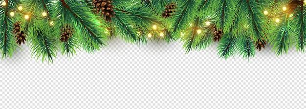 Frontière De Noël Vecteur Premium