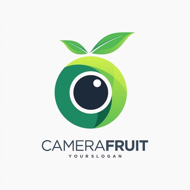 Fruit Caméra Amusant Photographie Feuille Vecteur Premium