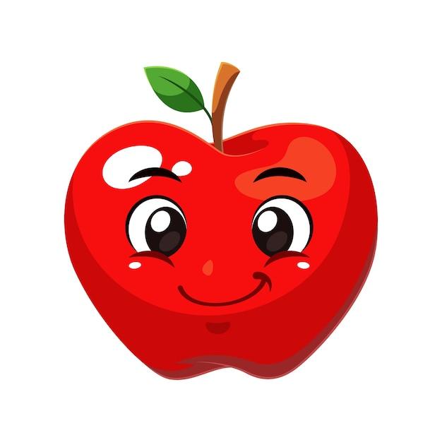Fruit De Pomme Vecteur Premium