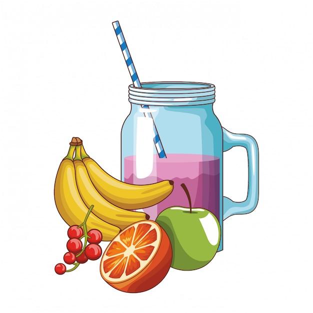 Fruits délicieux et frais Vecteur Premium