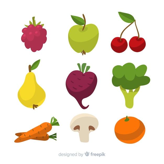 Fruits et fruits dessinés à la main Vecteur gratuit