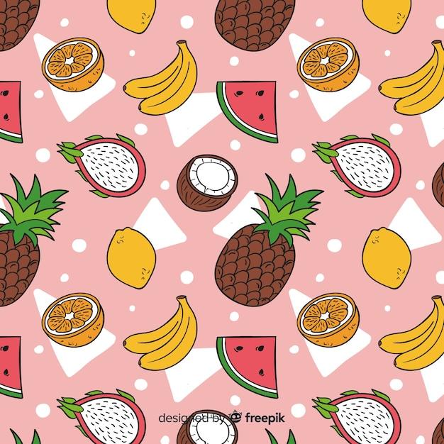 Fruits tropicaux Vecteur gratuit