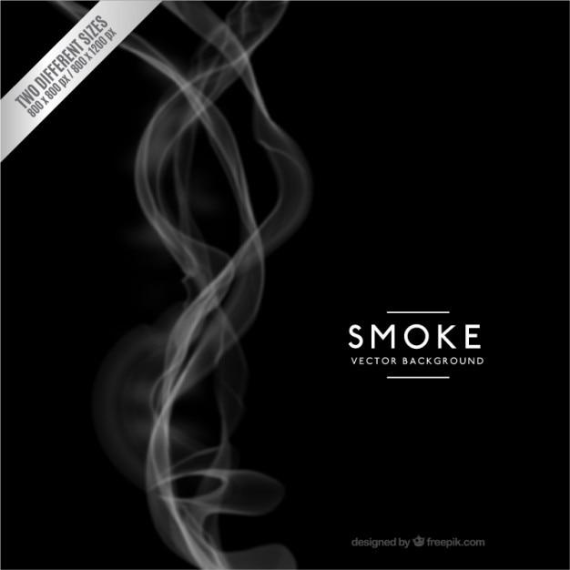 Une fumée noire fond Vecteur gratuit