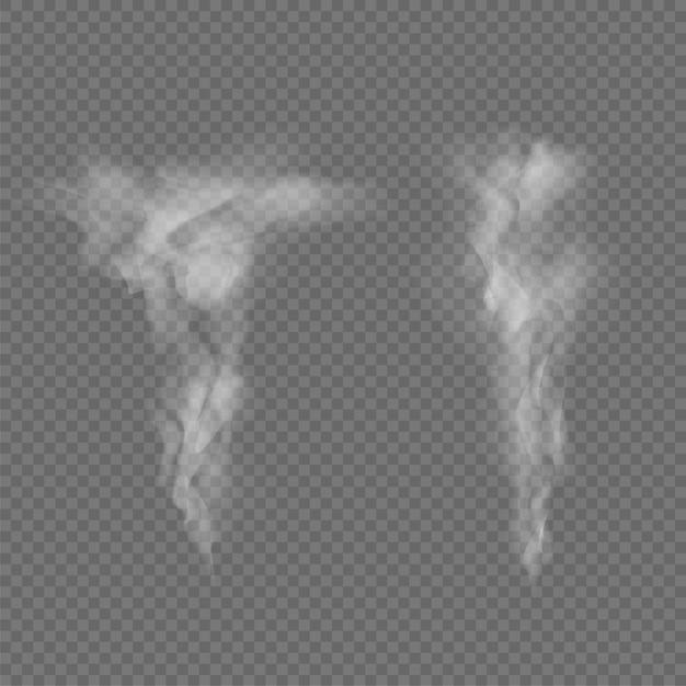 Fumée des vagues isolées sur transparent Vecteur Premium