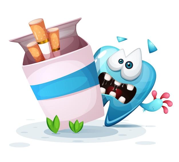 Fumer blesse vos dents illustration de dessin animé. Vecteur Premium