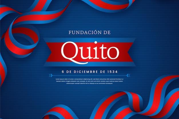 Fundación De Quito Avec Ruban Illustré Vecteur Premium