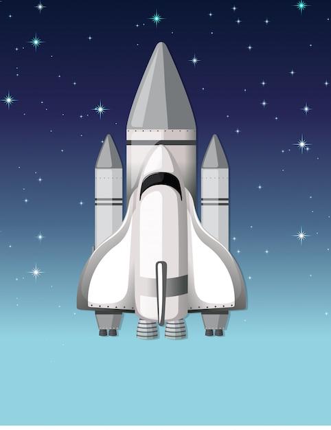 Une fusée dans le ciel Vecteur gratuit