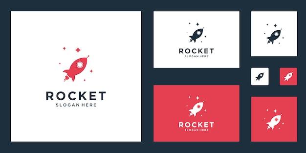 Fusée Marketing Abstrait Logo Inspiration Vecteur Premium