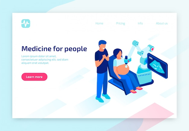 Le futur équipement numérique pour le diagnostic médical Vecteur Premium