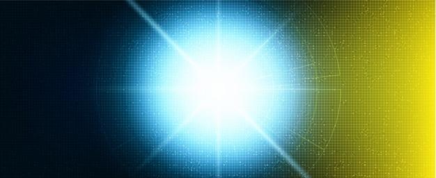 Future fond bleu et jaune clair Vecteur Premium