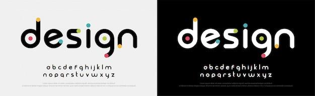 Futures Polices Créatives Alphabet Moderne Vecteur Premium