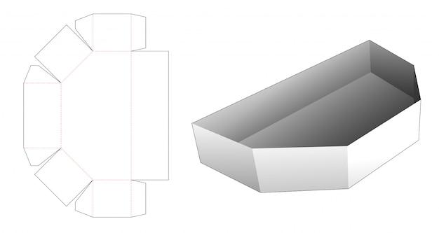 Gabarit Découpé à L'emporte-pièce En Carton Vecteur Premium
