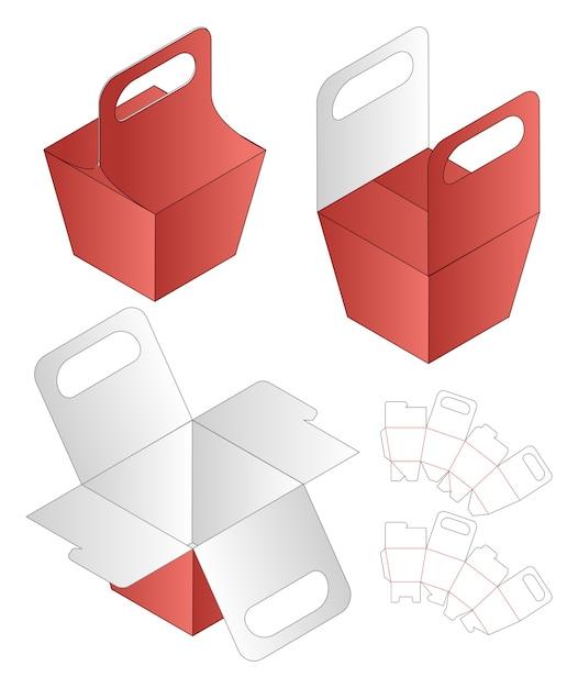 Gabarit De Découpe Pour Emballage De Boîte Vecteur Premium